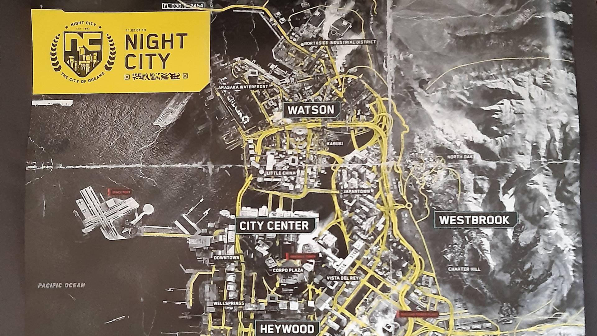 Conoce el mapa completo que tendrá CyberPunk 2077 - FestiGame