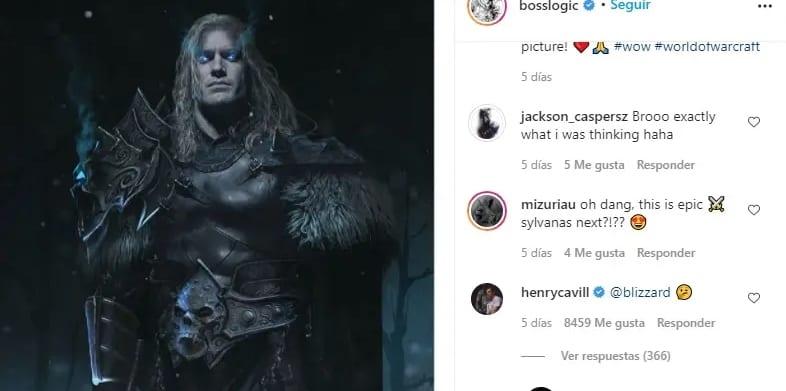 Henry Cavill se postuló como  Arthas para una posible película de Warcraft 1