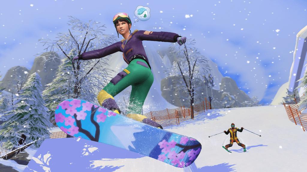 Abrígate para la mejor aventura invernal con Los Sims 4, Escapada a la nieve. 1