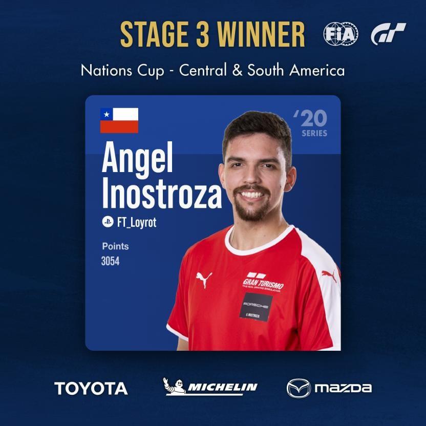 El chileno Angel Inostroza clasificó a la final del Mundial de Gran Turismo Sport 1