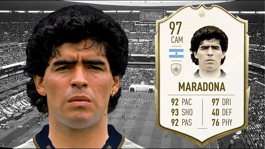 Especuladores comienzan a subir los precios de las tarjetas de Maradona en FIFA Ultimate Team 7