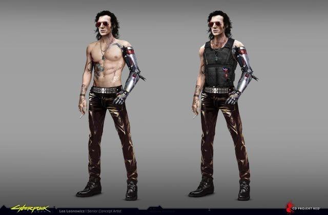 Artista de CD Projekt RED muestra como lucía Johnny Silverhand antes de Keanu Reeves 2