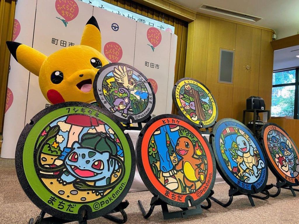 ¡Parecen tazos! Las calles de Japón tendrán nuevas tapas de alcantarillas inspiradas en Pokémon 8