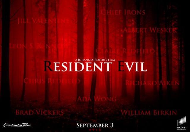 El nuevo póster de la película de Resident Evil deja ver los nombres de sus protagonistas 1