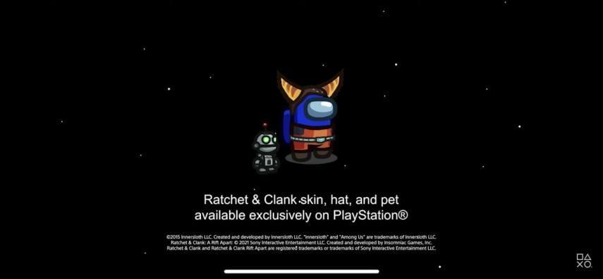 Among Us llegará a PS4 y PS5 durante este año con skins exclusivas de Ratchet & Clank 1