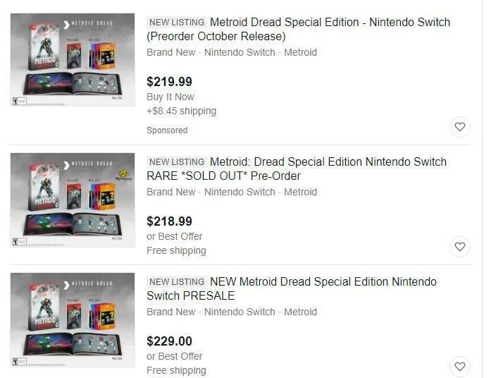 Especuladores están revendiendo la edición especial de Metroid Dread a más de 200 dólares 1