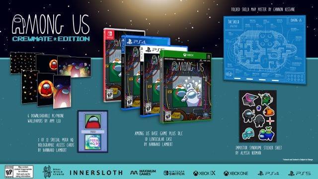 Among Us presentó sus tres versiones físicas para PS4, PS5, Xbox y Switch 1