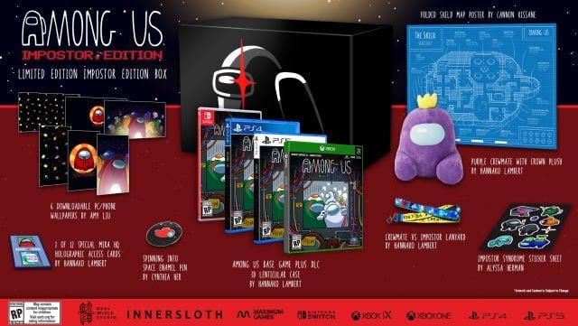 Among Us presentó sus tres versiones físicas para PS4, PS5, Xbox y Switch 2