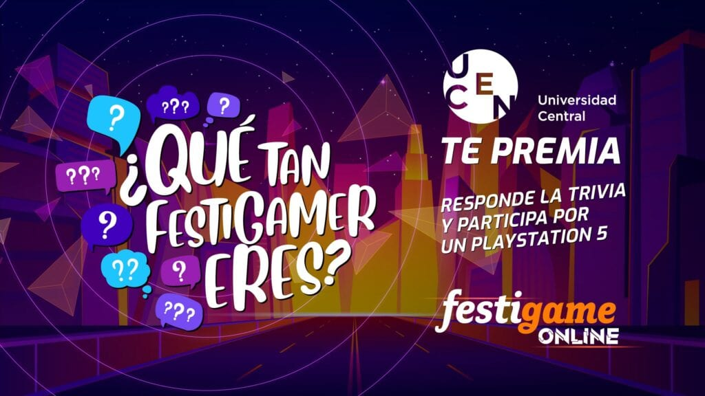 ¿Quieres ganarte una PlayStation 5? En Festigame Online, Universidad Central te premia con una PS5 2